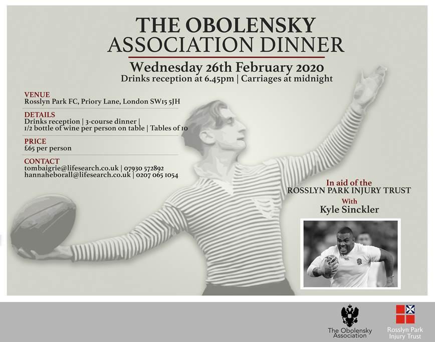 RPFC Obolensky Association Dinner 2020