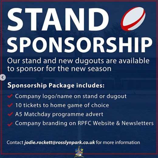 RPFC Stand Branding 2020/21 Season