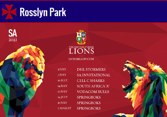 British & Irish Lions in South Africa 2021 | LIVE on our large screens @ The Rock